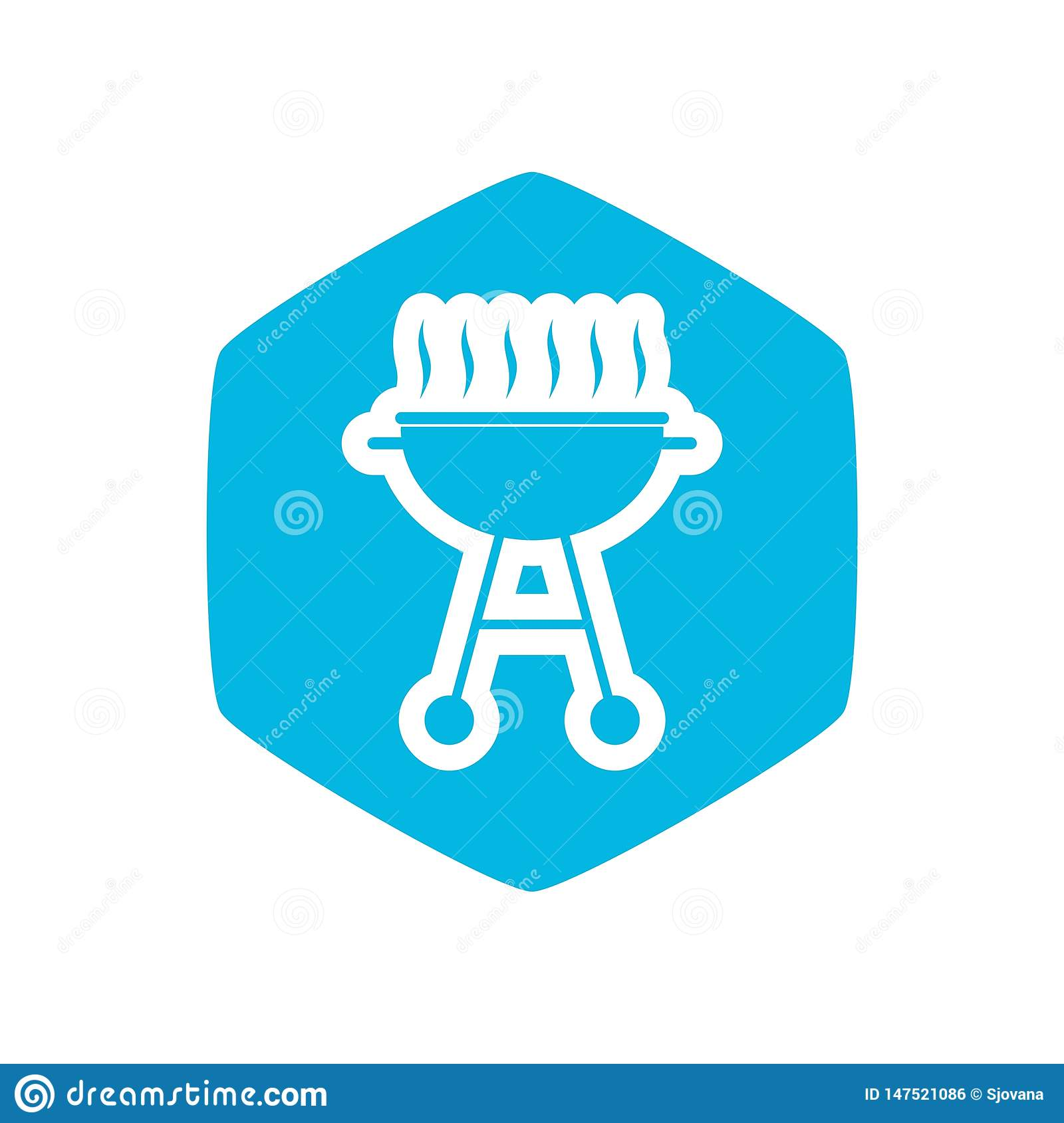 Grill ikona, Prosta ilustracja grill ikona dla sieci