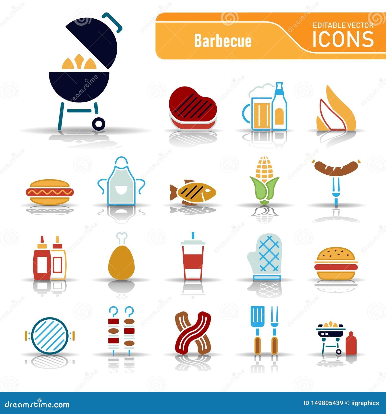 Grill & jedzenie - Iconset ikony