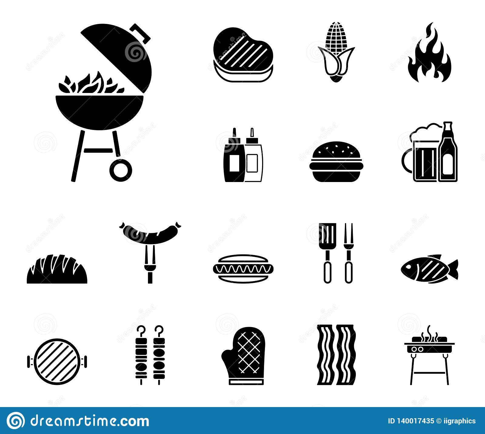 Grill & jedzenie ikony - Iconset -