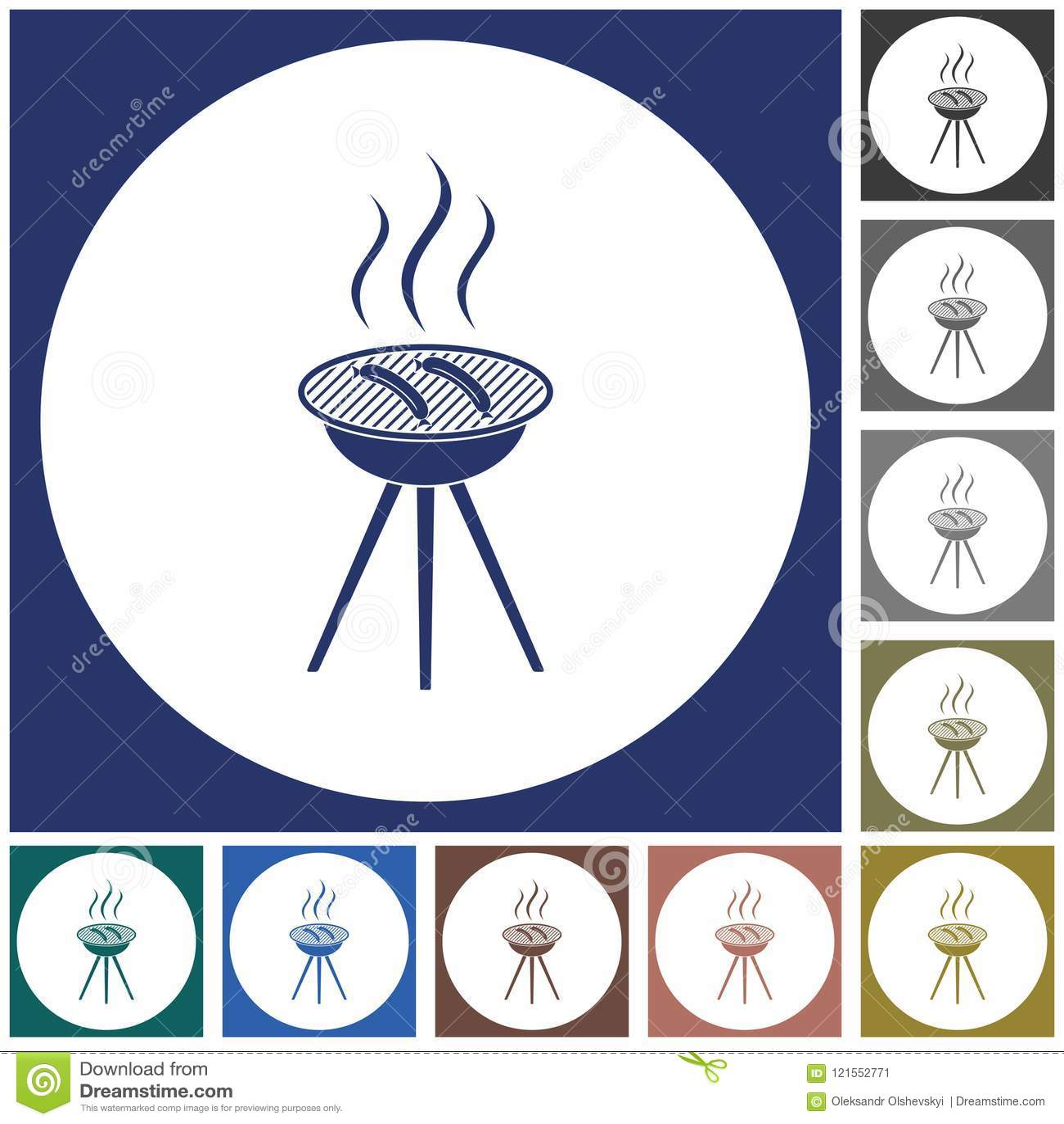 Grill kiełbasy ikona
