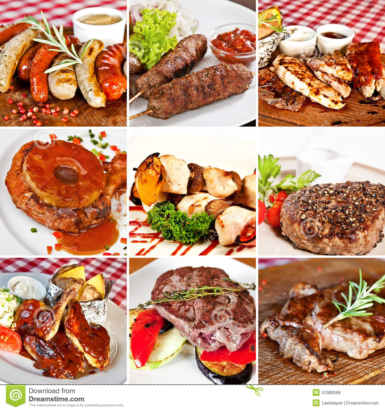 grill menu collage stock photo image 51080568