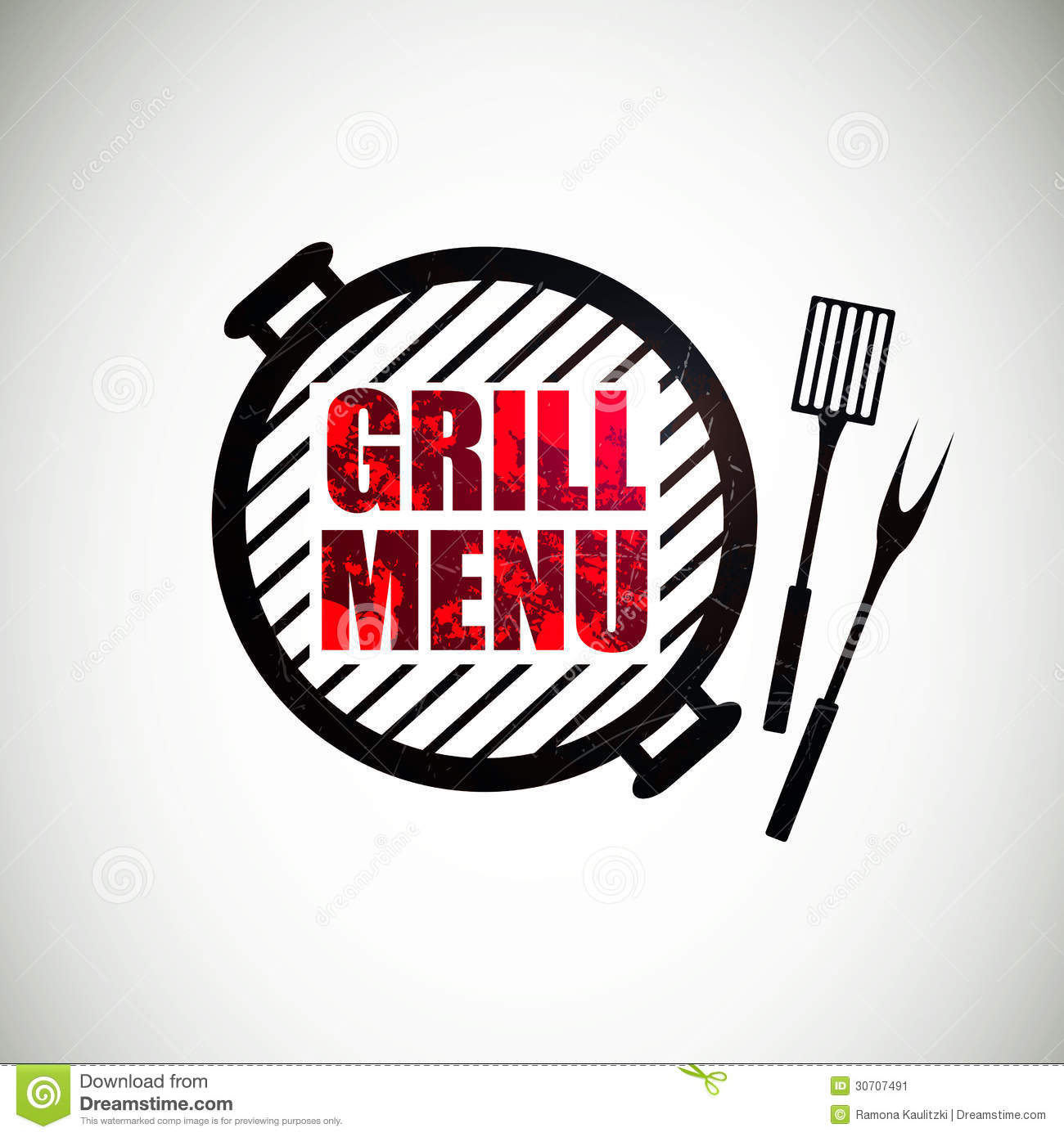 grill menu design stock illustration illustration of icon 30707491