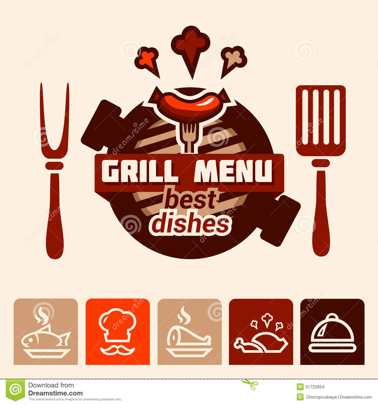 ... badge, label, logo, icons design templates for meat store, grill menu
