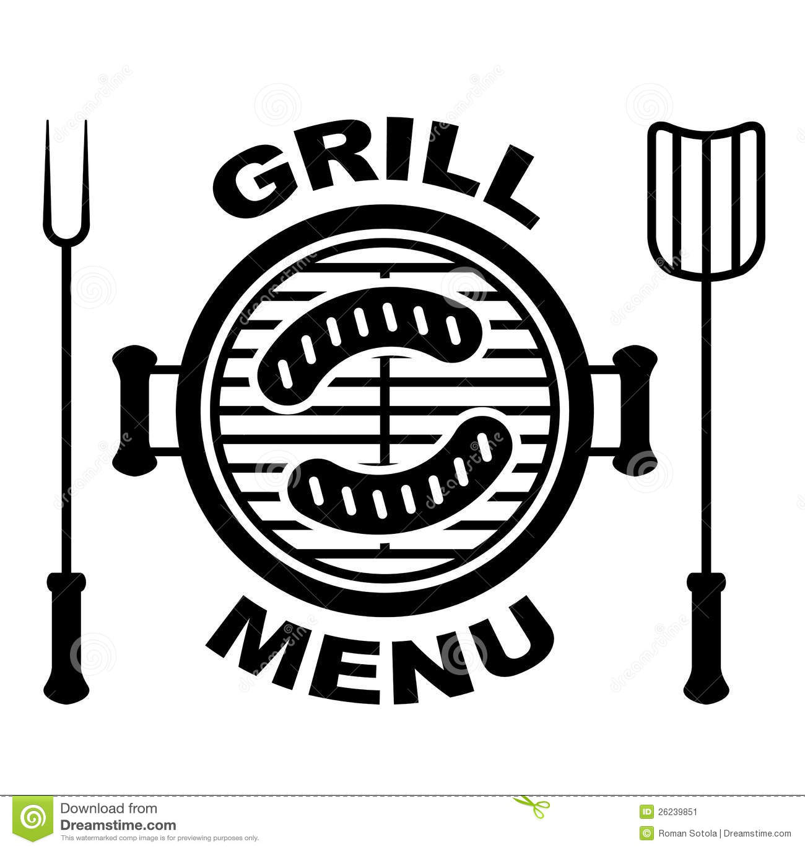 grill menu symbol stock image image 26239851. Black Bedroom Furniture Sets. Home Design Ideas