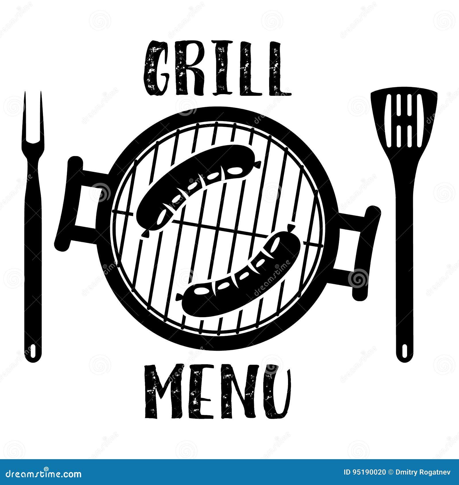 Grill Menu Symbol Stock Vector Illustration Of Food 95190020