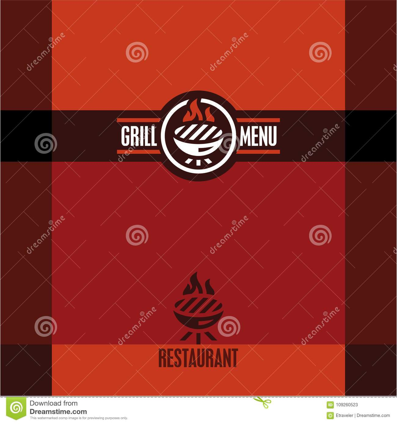 grill menu grill icon stock vector illustration of barbeque