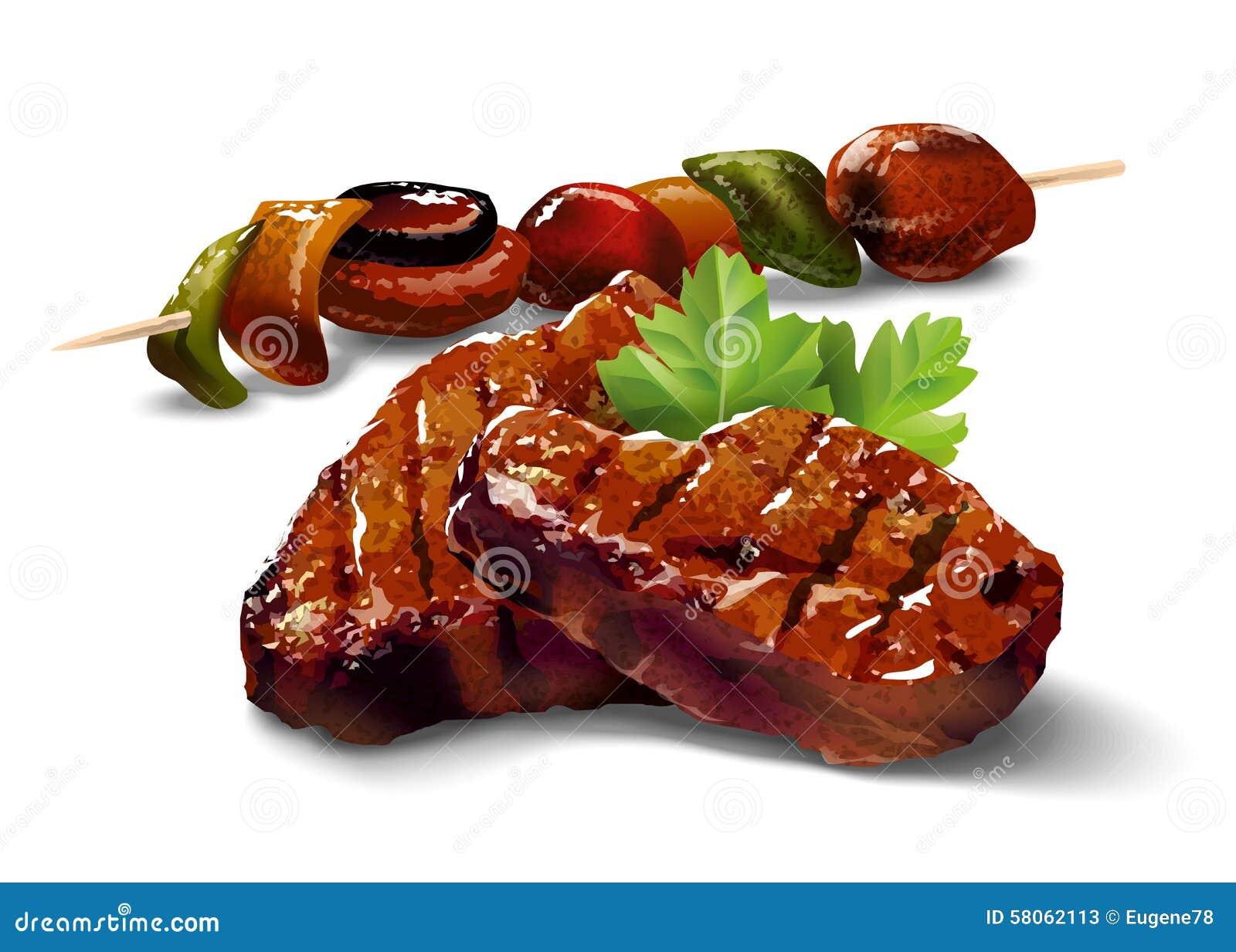 Grill Mięso z warzywami