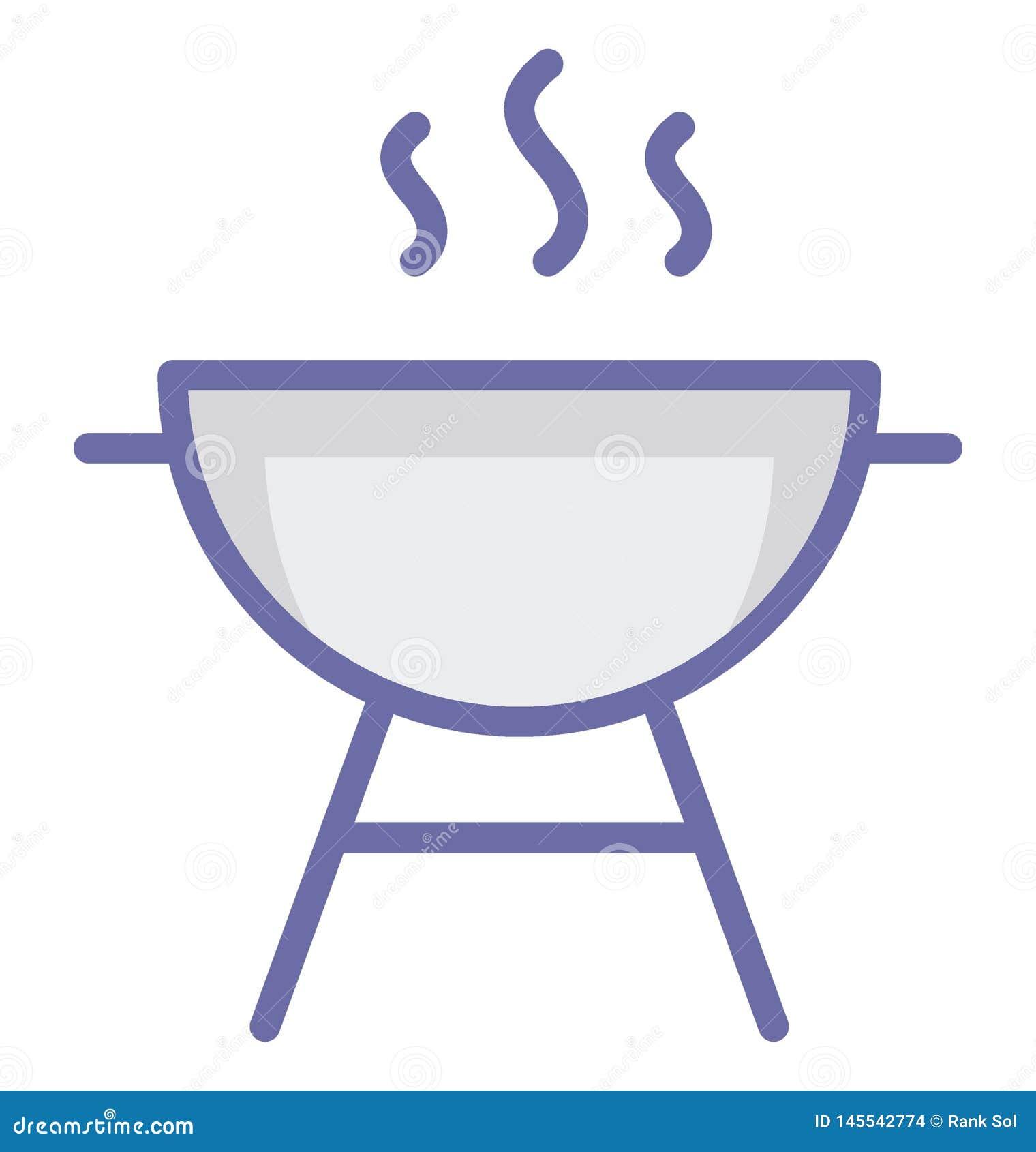 Grill Odizolowywał Wektorową ikonę która może łatwo redagować lub modyfikować