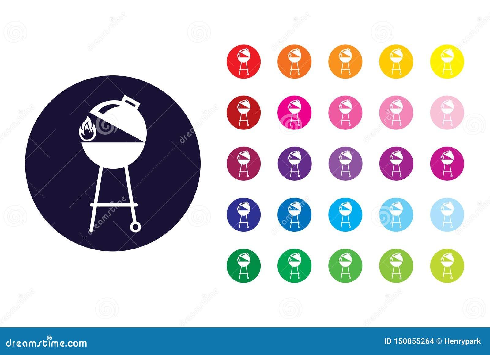 Grill szyldowa ikona Grilla koloru symbol