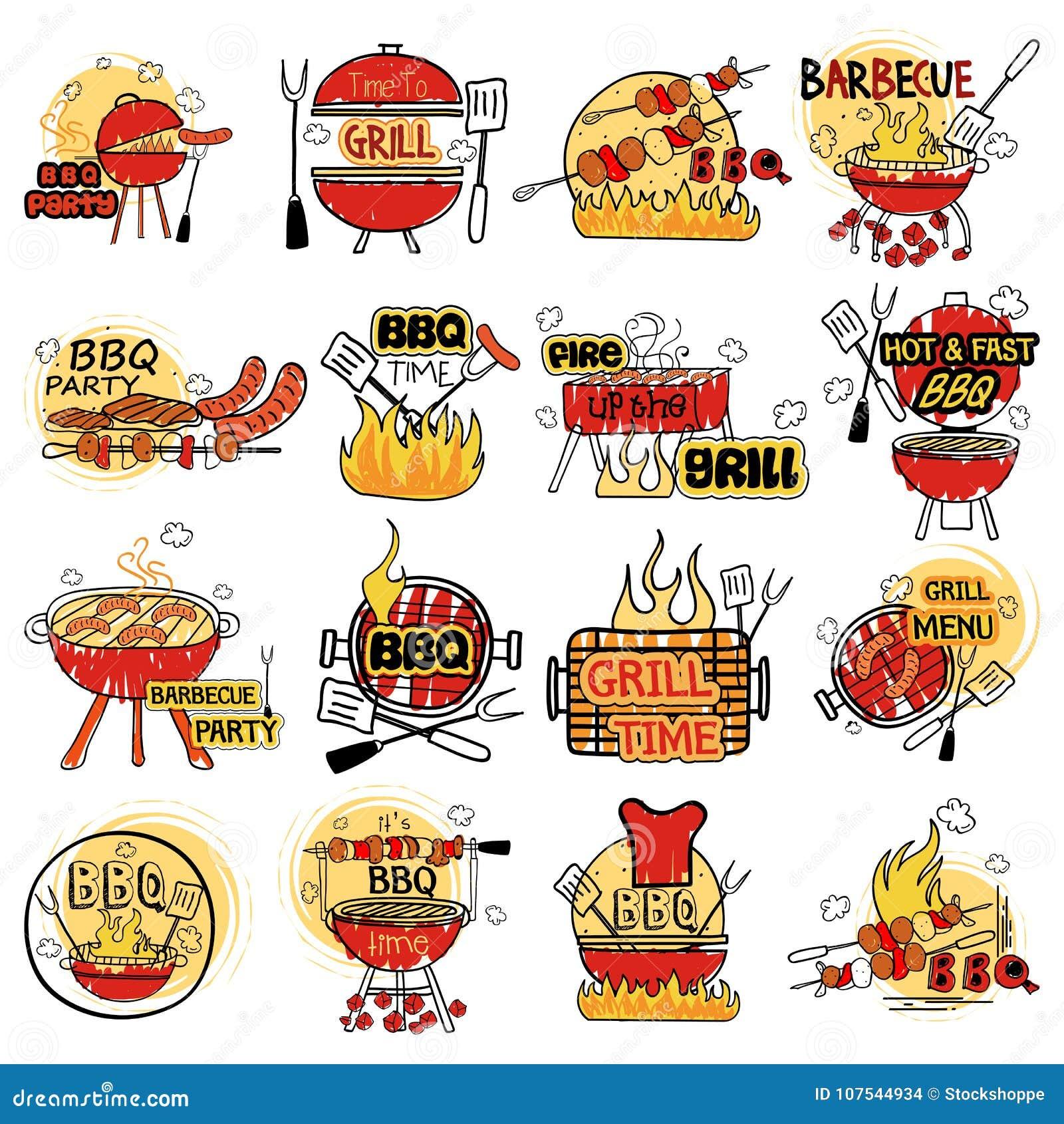Grill- und Grillaufkleber etikettieren Aufkleber für Anzeige