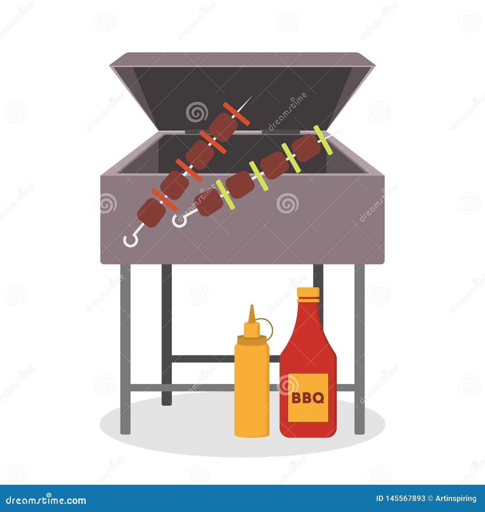 Grilla grill, piec na grillu kumberland, mięsny i wyśmienicie