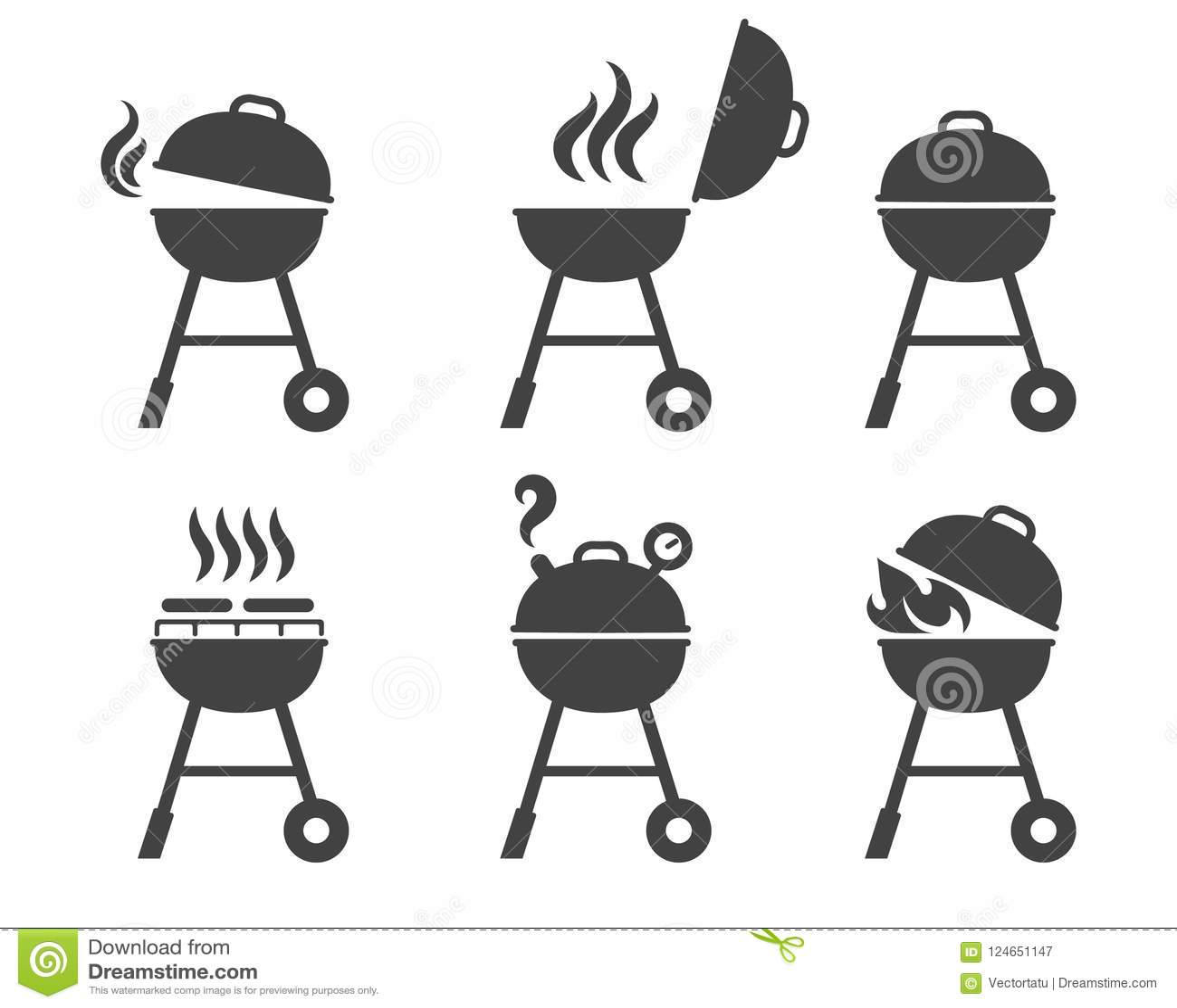 Grilla grilla ikony