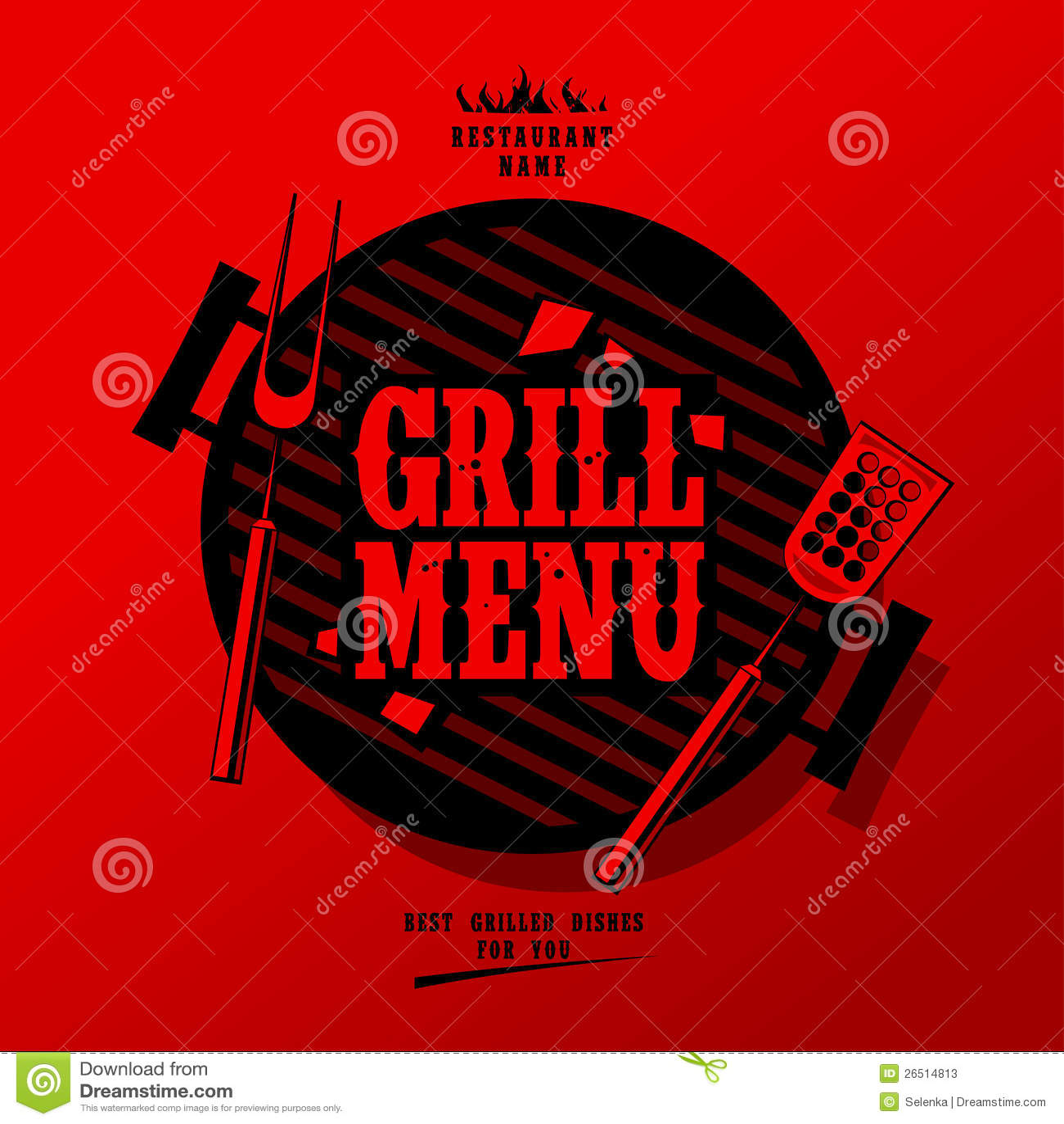 Grilla menu.