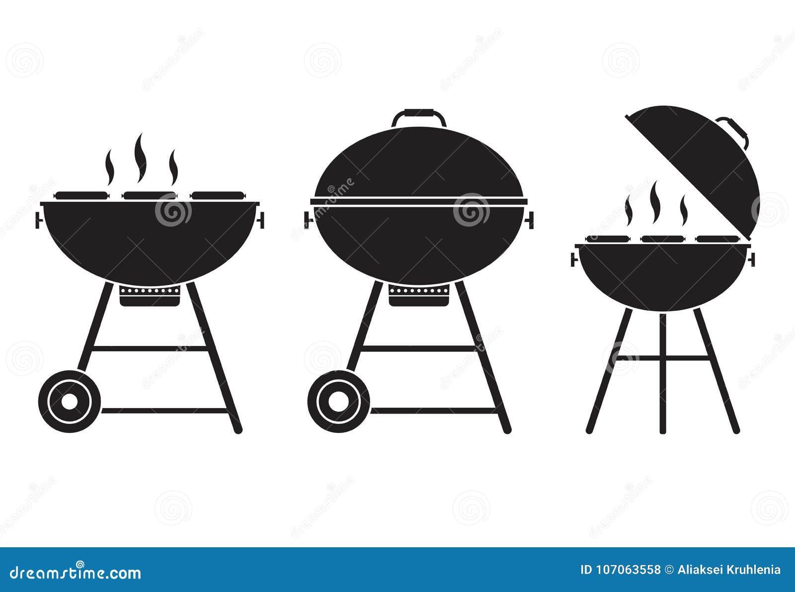 Grilla grilla wektoru ikona