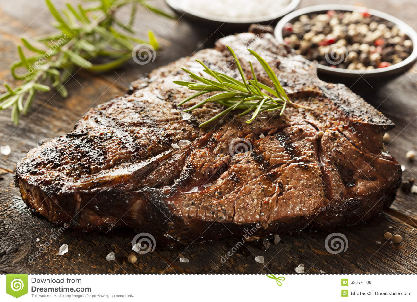 Grillad BBQ-T-ben biff