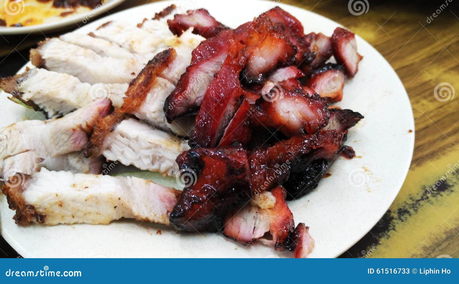 Grillad kines och stekgriskött