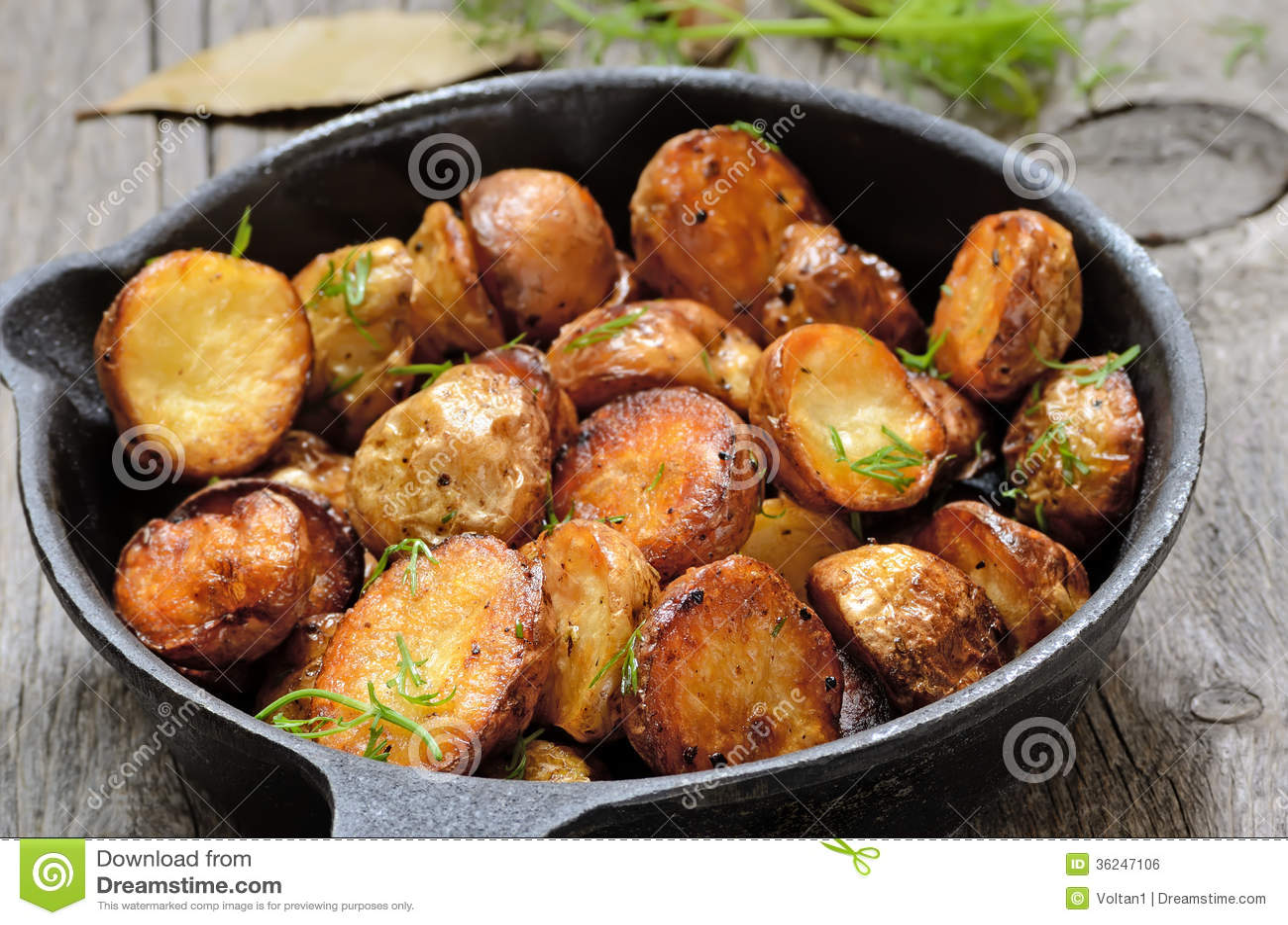potatis i stekpanna