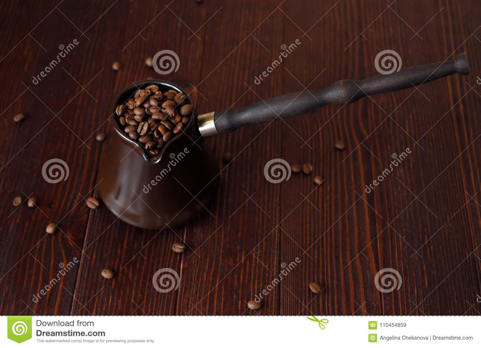 Grillade kaffebönor i härlig kopparturk