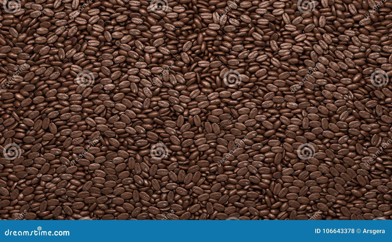 Grillade kaffebönor textur eller bakgrund