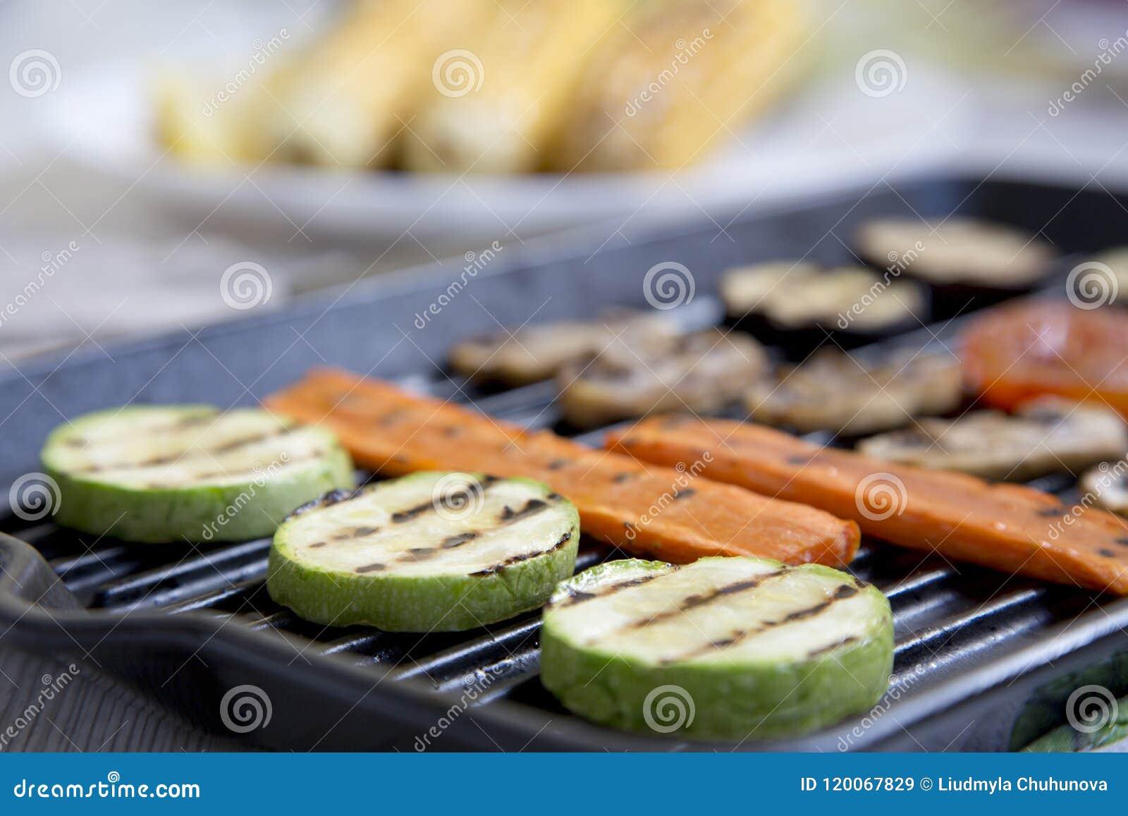 Grillade veggies, sidosikt selektivt