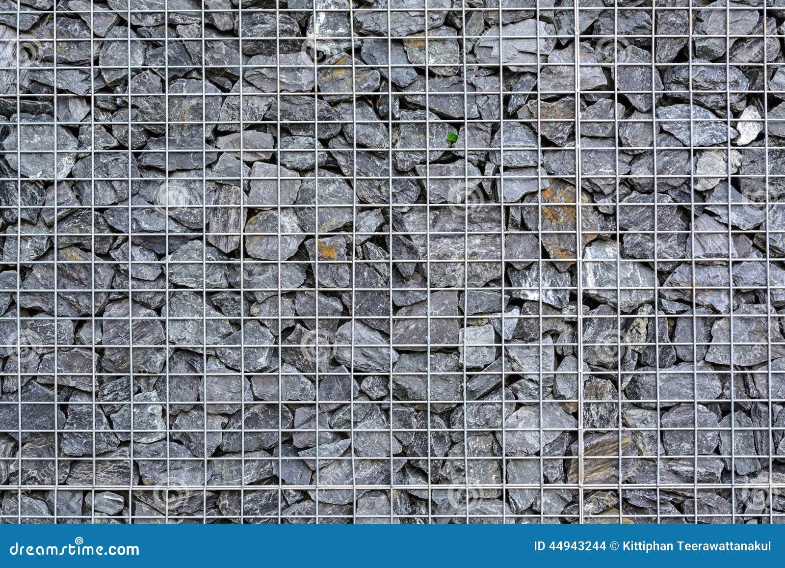 grillage rempli de pierres photo stock image 44943244. Black Bedroom Furniture Sets. Home Design Ideas