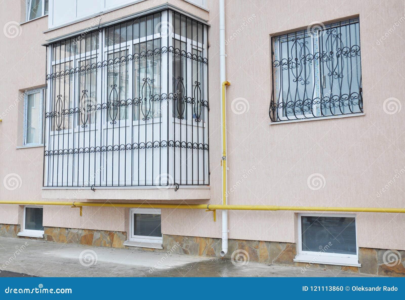 Grille En Métal Pour Des Fenêtres Et La Protection De Balcon Fenêtre