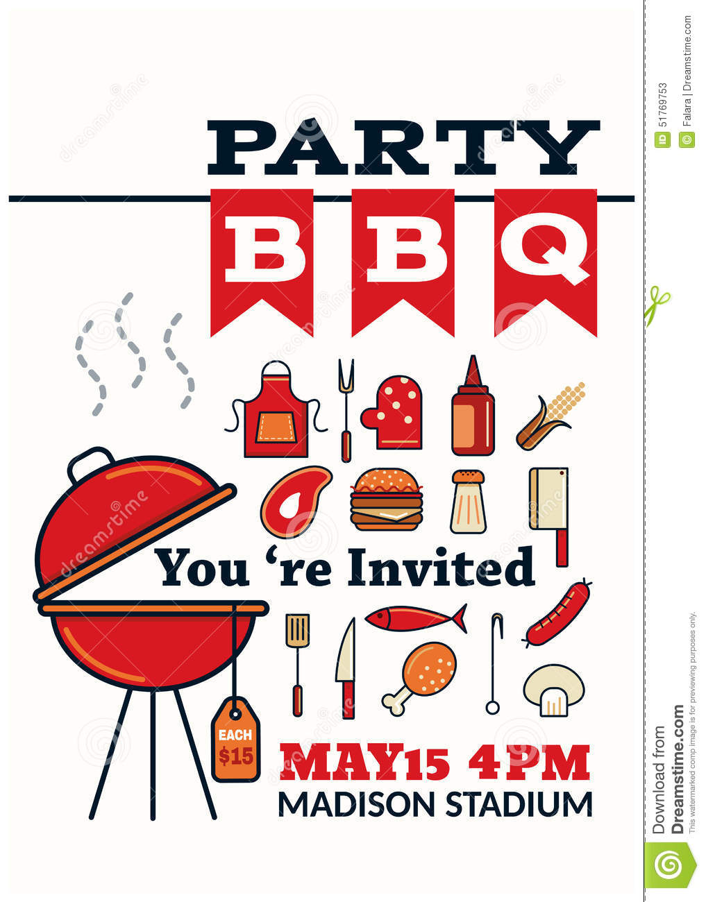 grilled bbq party icon style stock vector