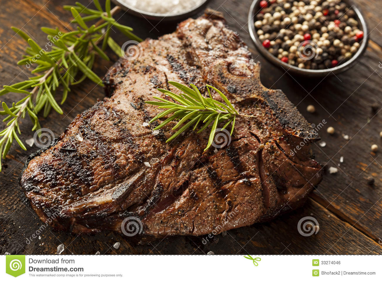 Grilled BBQ T-Bone Steak Royalty Free Stock Image - Image: 33274046