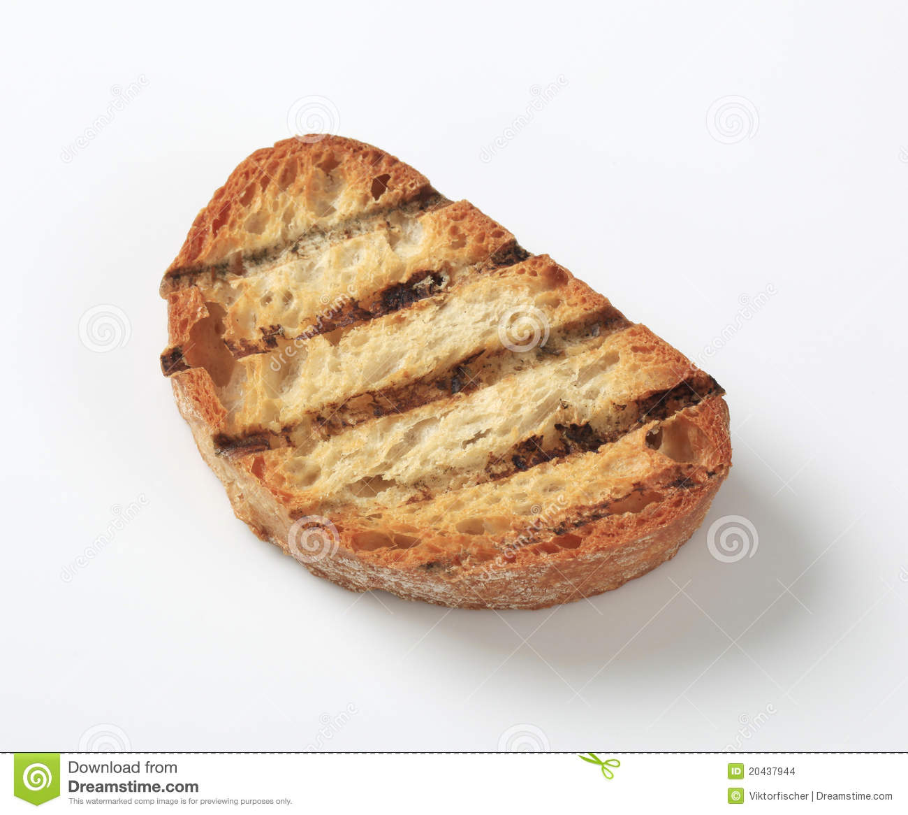 Grilled bread stock photo. Image of studio, grilled, bread ...