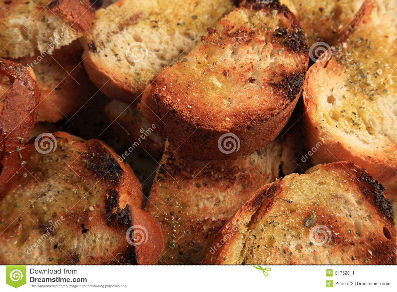 Grilled Bread Stock Image - Image: 31752011
