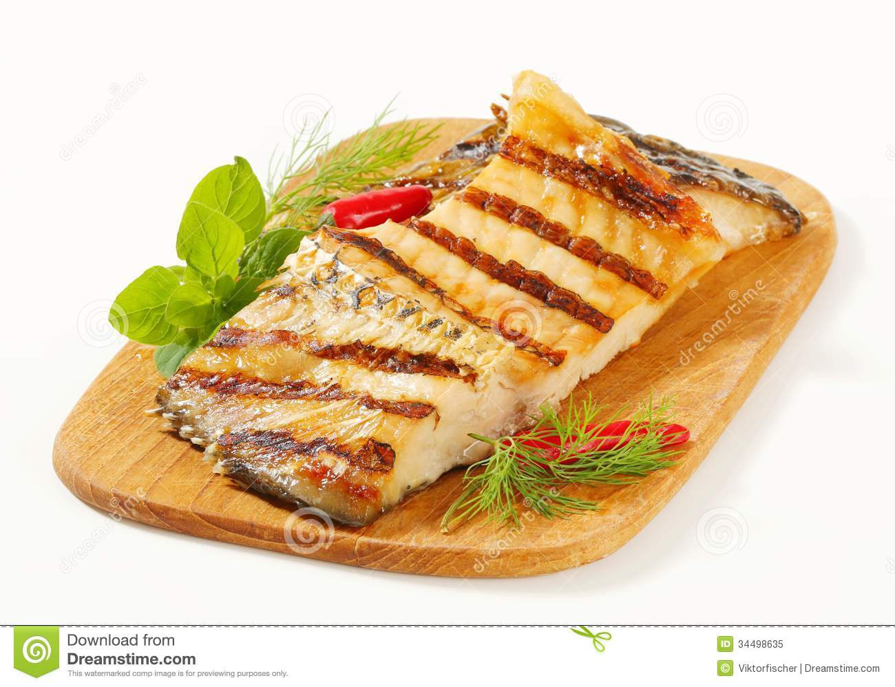 Grilled carp fillets royalty free stock photo image for Fish fillet board