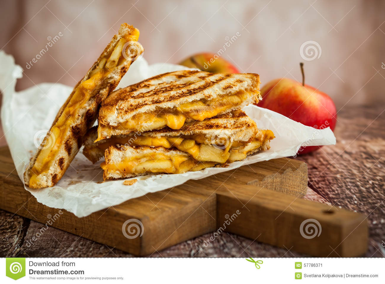 Grilled Cheese Sandwich Stock Photo - Image: 57786371