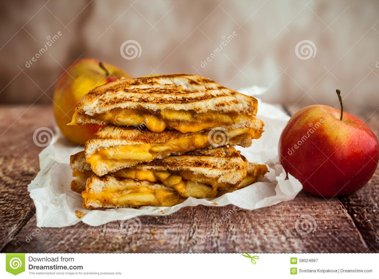 Grilled Cheese Sandwich Stock Photo - Image: 58024667