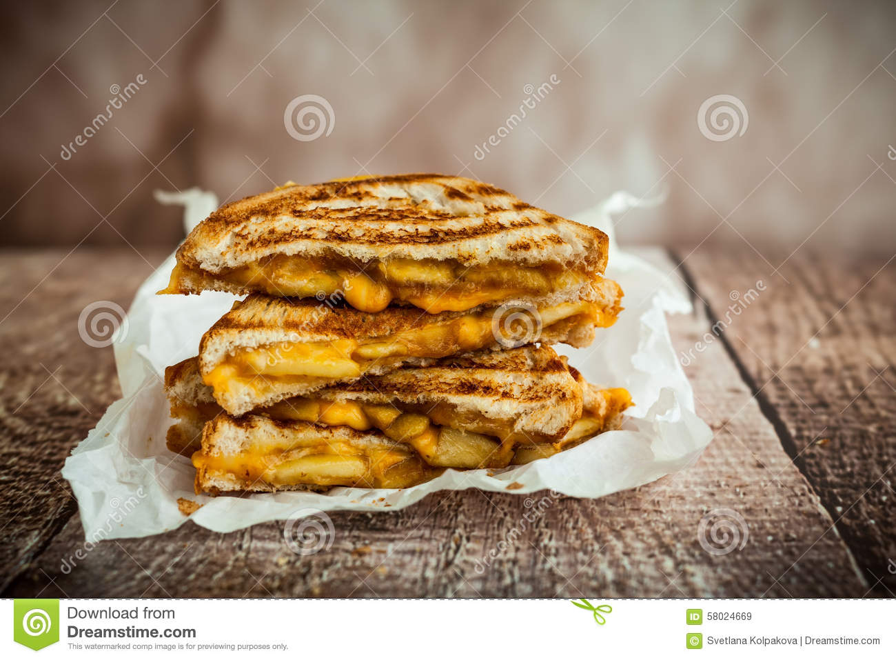 Grilled Cheese Sandwich Stock Photo - Image: 58024669
