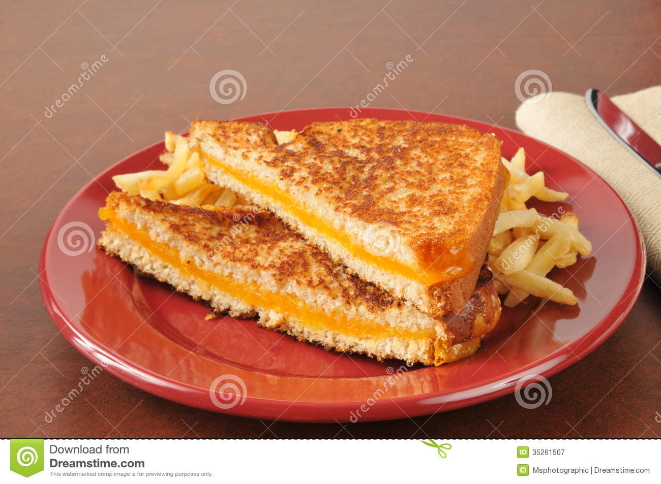 Grilled cheese sandwich  Gourmet Grilled Cheese And Fries