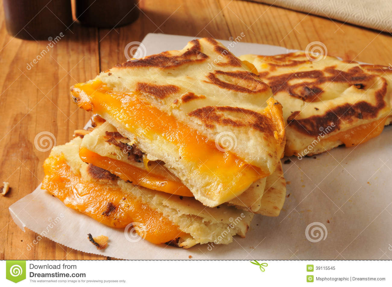Grilled Cheese Sandwich On Naan Bread Stock Photo - Image: 39115545