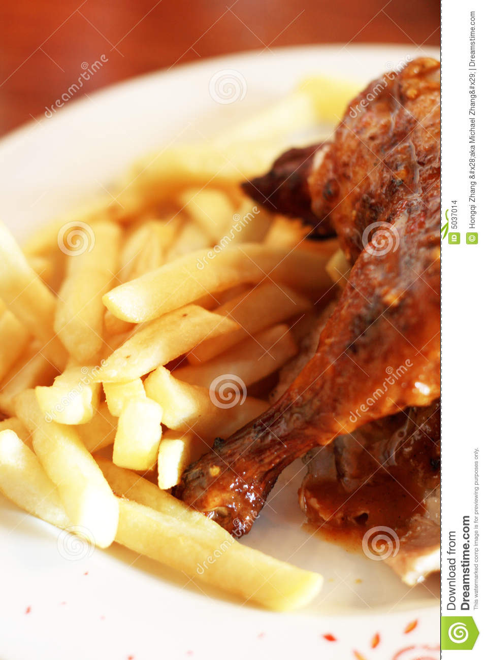 Grilled Chicken And Chips Stock Images Image 5037014