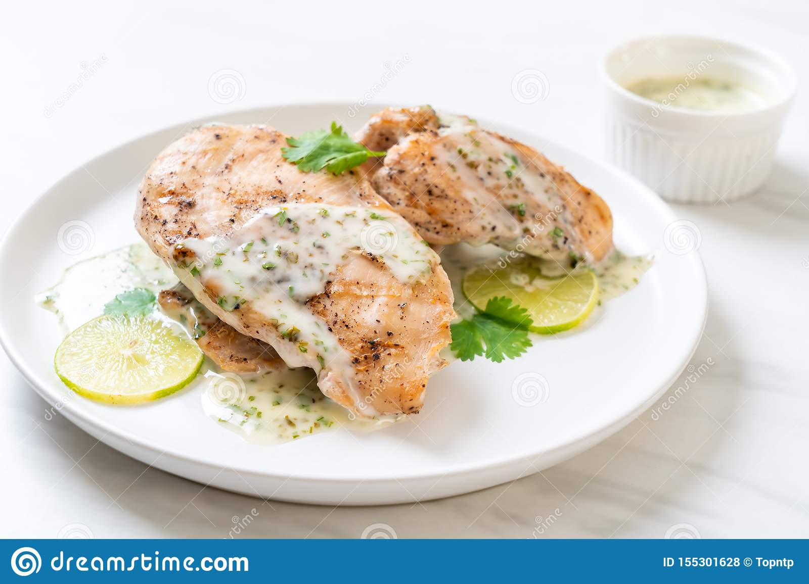 grilled chicken with lemon lime sauce