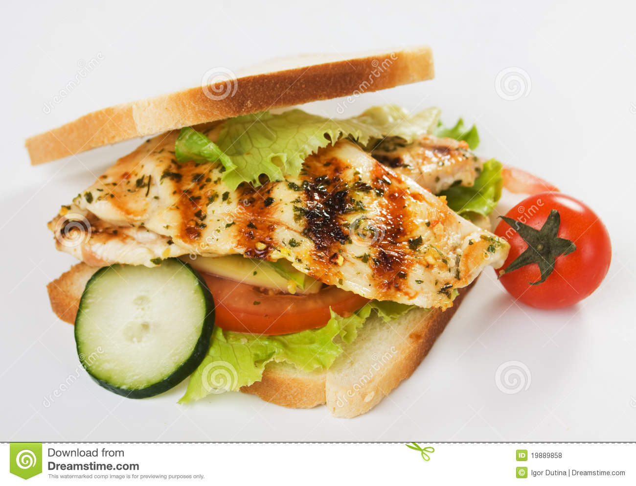 grilled chicken sandwich royalty free stock photos image