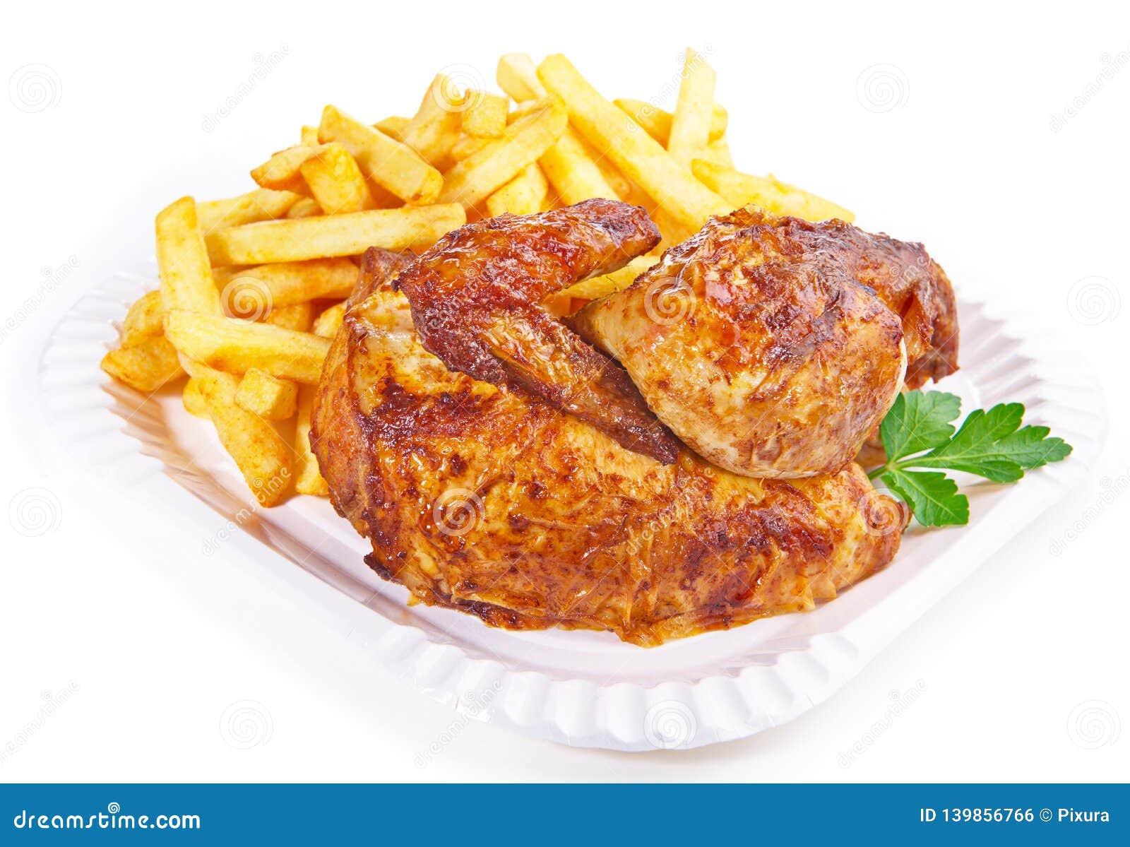 Grilled Chicken wirh French Fries