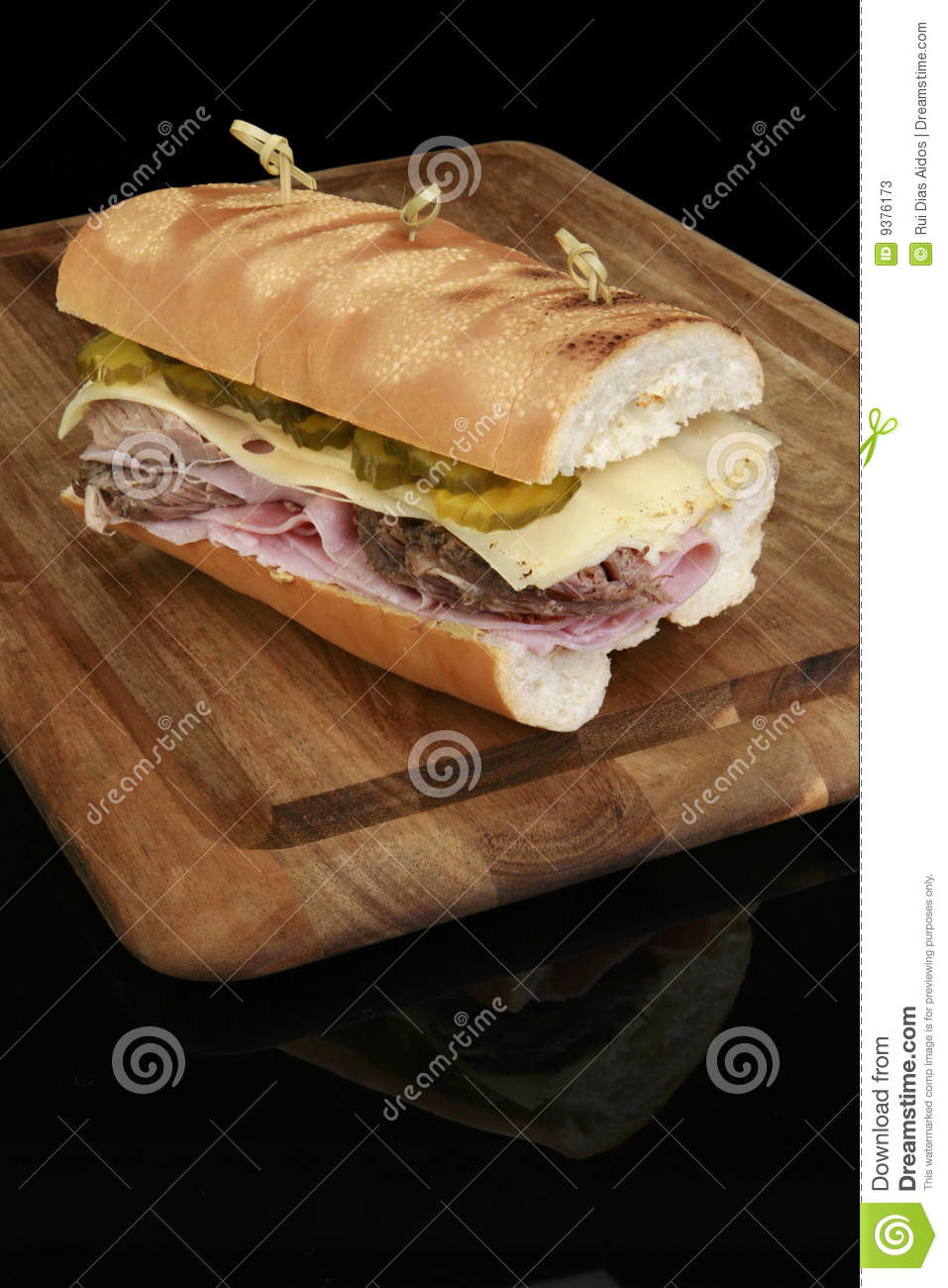 Grilled Cuban Sandwich Stock Photos - Image: 9376173