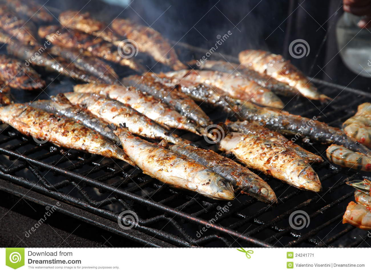 Grilled fish stock image image of phosphorous shell for Bbq fish grill