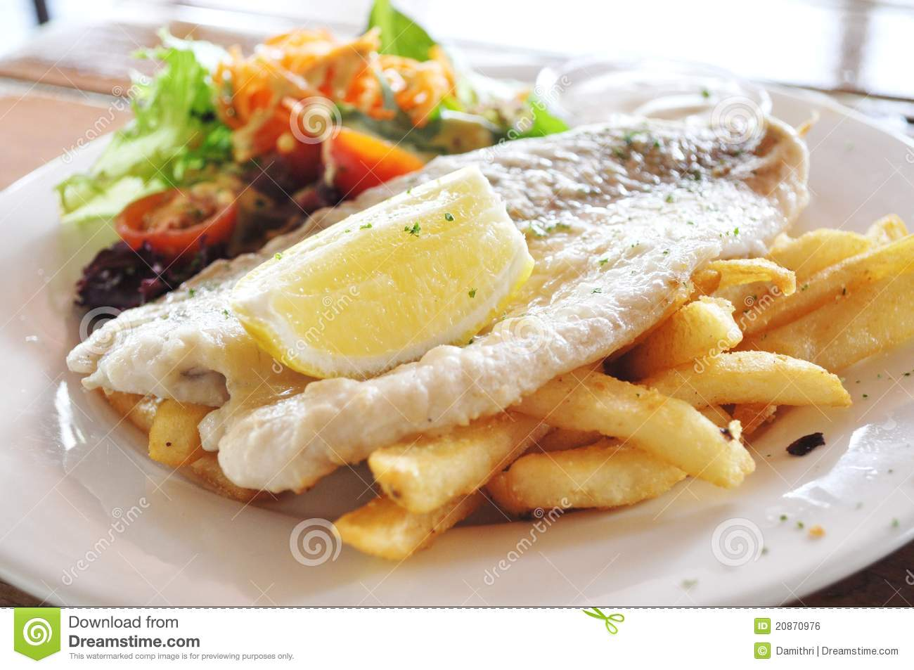 Grilled fish and chips royalty free stock image image for Fish and grill