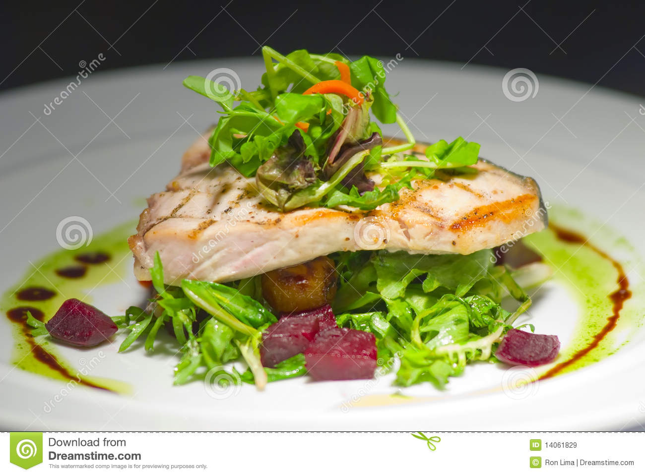 Grilled fish filet plate royalty free stock images image for Bbq fish grill