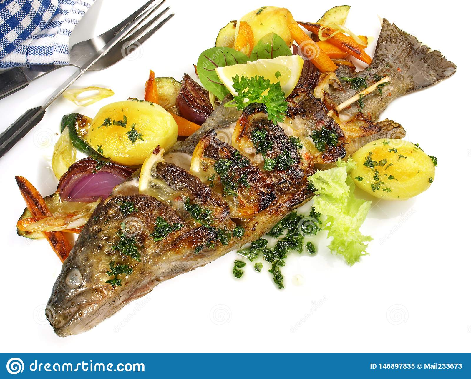 Grilled Fish - Rainbow Trout