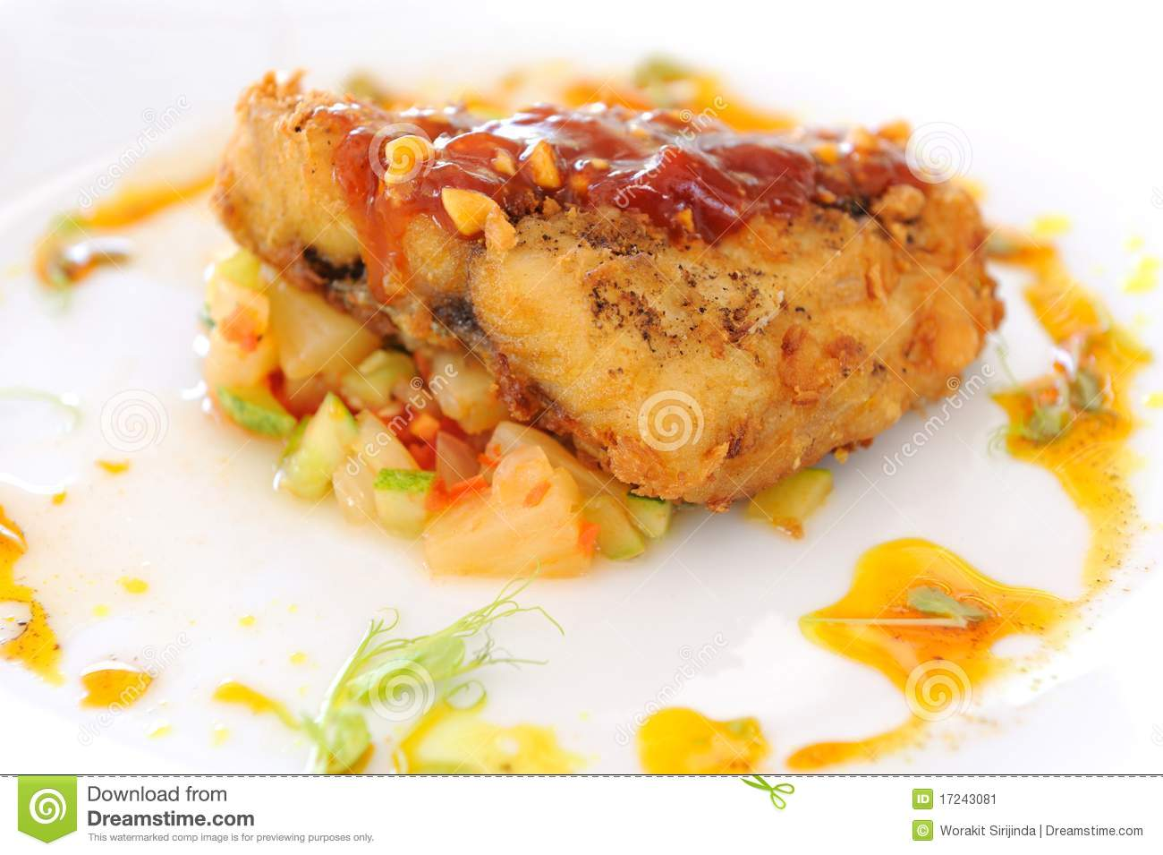Grilled Fish Steak Stock Image - Image: 17243081