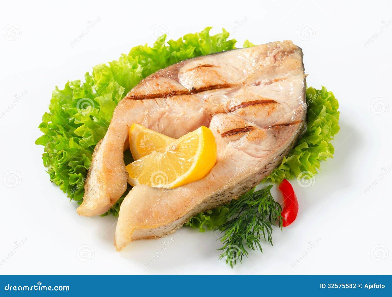 Grilled Fish Steaks Recipe — Dishmaps