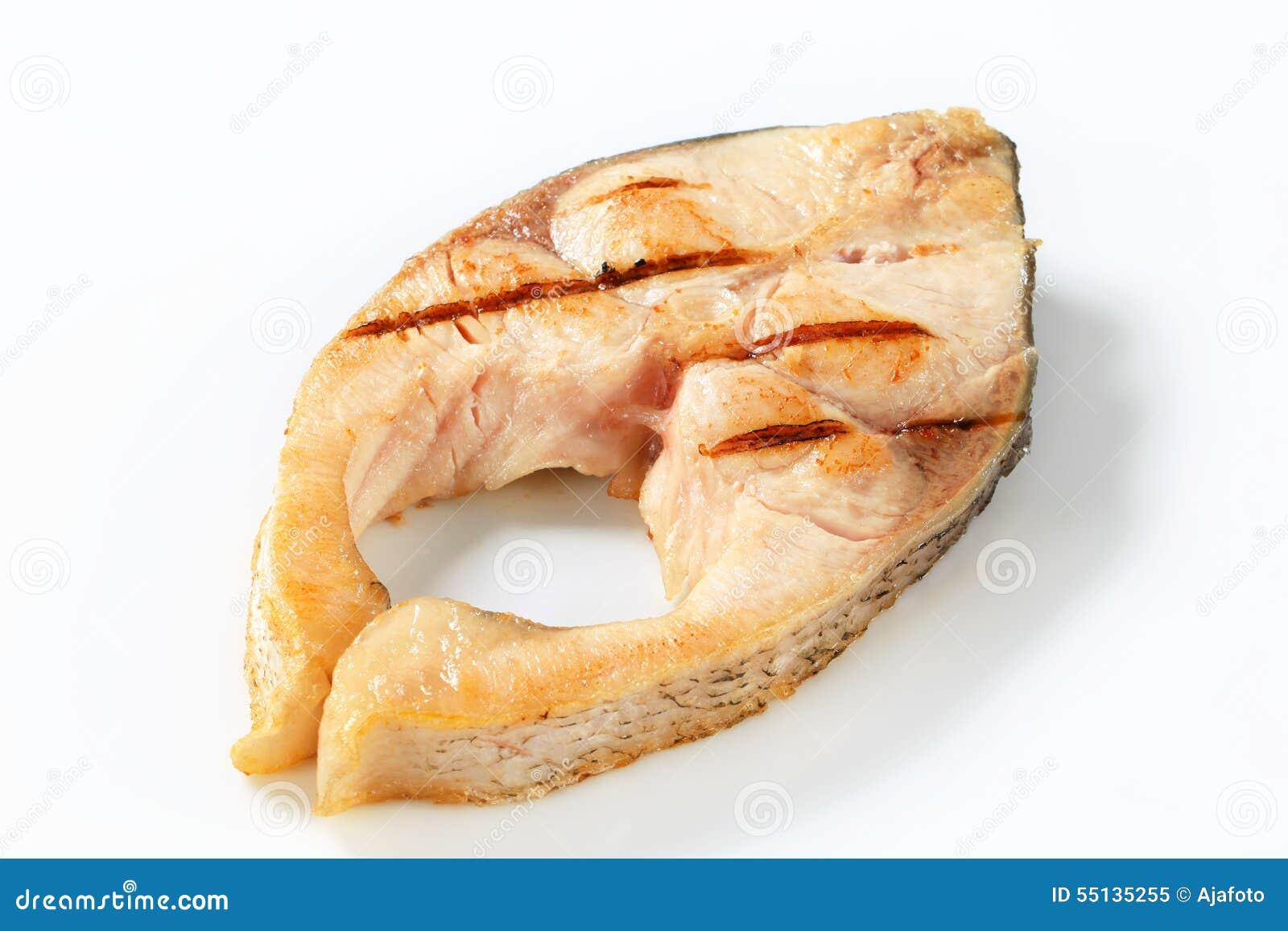 Grilled Fish Steak Stock Photo - Image: 55135255