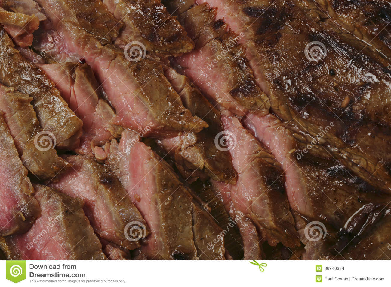 ... grilled flank beef steak, or London broil as it is known in the US