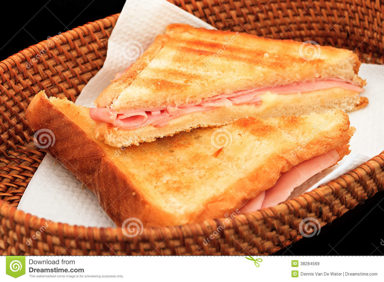 Grilled Ham And Cheese Sandwich Royalty Free Stock Images - Image ...